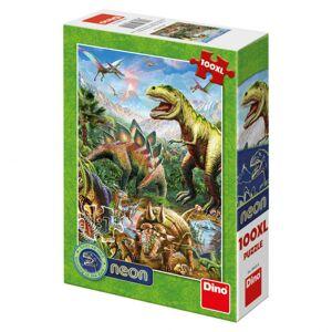 Dino puzzle Svet dinosaurov 100DXL neon
