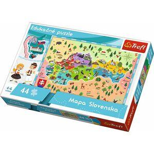 Puzzle Mapa Slovenska 44 dielikov