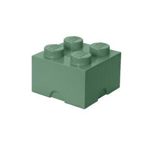 LEGO úložný box 4 - army zelená