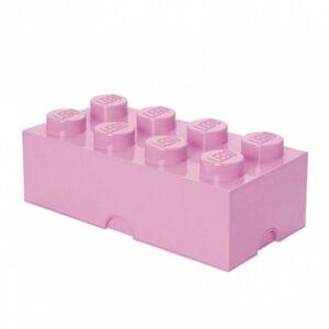 LEGO úložný box 8 - svetlo ružová