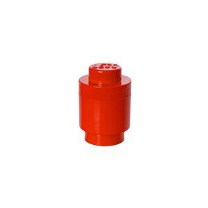 LEGO úložný box kulatý 123 x 183 mm - červená