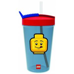 Lego Iconic Classic fľaša so slamkou - červená / modrá
