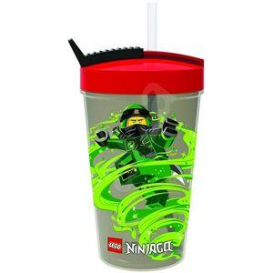 LEGO Ninjago Classic fľaša so slamkou - červená