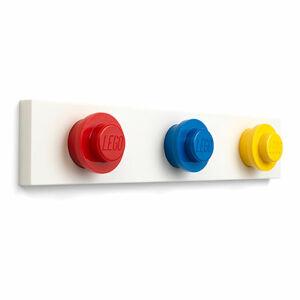 LEGO nástenný vešiak - červená, modrá, žltá