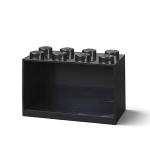 LEGO Brick 8 závěsná police - černá