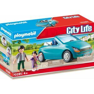 Playmobil Tatínek s dítětem a kabrioletem