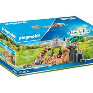 Playmobil Lvi ve venkovním výběhu