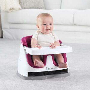 INGENUITY Podsedák na jídelní židli 2v1 Baby Base Pink Flambe 6 m+, do 22 kg