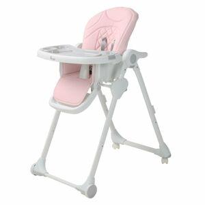 Bo Jungle jídelní židlička B-DINNER CHAIR WHEELY Pink