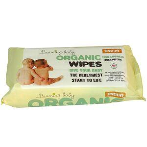 Beaming baby Organické vlhčené ubrousky s vůní 100% biodegradabilní(72 ks)