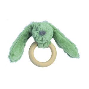 Happy Horse Králíček Zelený Richie s dřevěným kroužkem