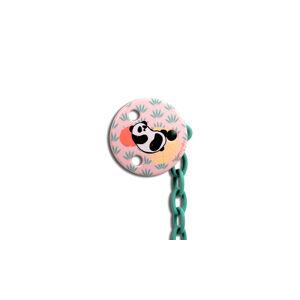 Suavinex KLIP na šidítko KULATÝ - RŮŽOVÁ PANDA