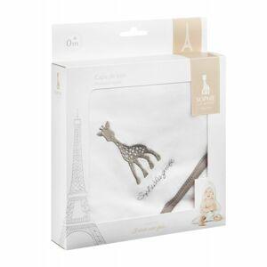 Osuška s kapucí žirafa Sophie rozměr 75 x 75 cm