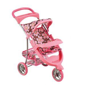 BINO Kočiarik pre bábiky, ružový