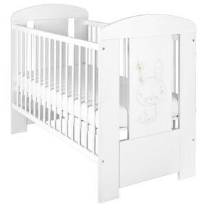 New Baby Dětská postýlka Králíček standard bílá