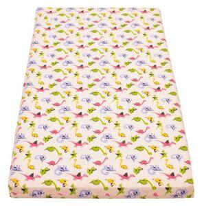 New Baby Dětská pěnová matrace 120x60 růžová - různé obrázky