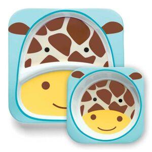 SKIP HOP Zoo Jídelní set melaminový Žirafa 6m+