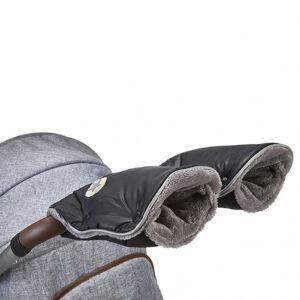 Little Angel rukavice na kočár Mazlík černá-logo/šedá