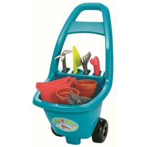 Ecoiffier Záhradný vozík s náradím, kvetináčmi a krhličkou