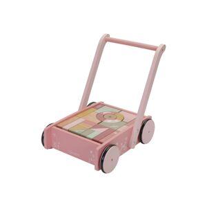 Little Dutch Vozíček s kostkami pink Flowers