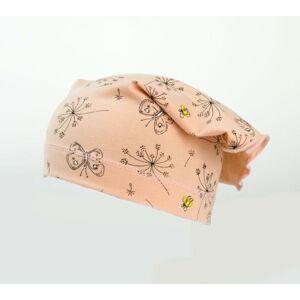 Karpet Dívčí úpletový šátek s potiskem květy - losos vel.5