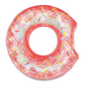 MAC TOYS Nafukovací kruh donut s trblietkami