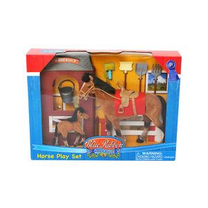 Mac Toys Kôň 20 cm a 10 cm sa stajní a príslušenstvom