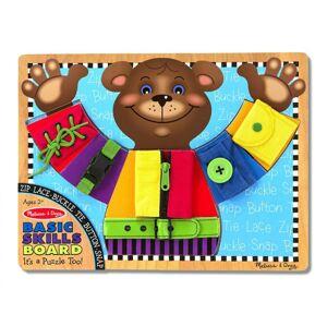 Melissa & Doug - Výuková hračka Medveď - zapínanie