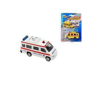 Mikro Ambulancia 7cm - voľný chod