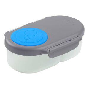 b.box Svačinový box malý - modrý/šedý