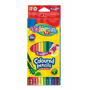 Colorino pastelky zmazateľné, 12 farieb
