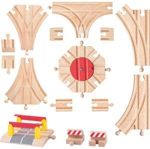 Woody Príslušenstvo k dráhe - Rozšírený set koľají: výhybky, koncovky, točňa