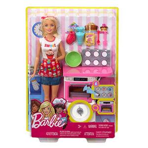 MATTEL 25FHP57 BARBIE Varenie a pečenie herné set  s bábikou - poškodený obal