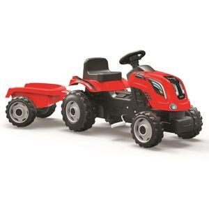 SMOBY SM 710108 šliapací traktor Farmer XL červený s vozíkom - poškodený obal