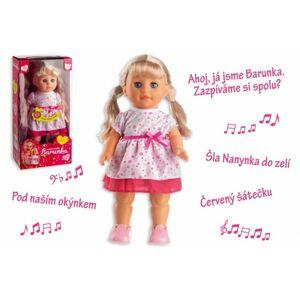 VYH 00514005 Panenka Barunka chodící a zpívající plast 42cm na baterie se zvukem v krabici 21x44x11c