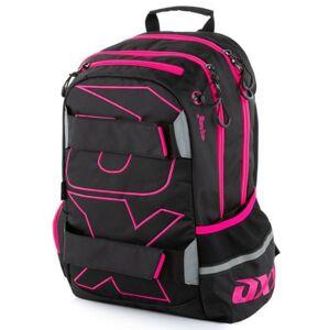 Oxybag Študentský batoh - OXY Sport Black line pink - poškodený obal
