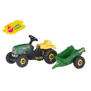 OL 012442 Šlapací traktor Rolly Kid s vlečkou - zelený - poškozený obal