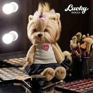 SEO LD001 Psík Lucky YOYO: Fashionista (25 cm sediaci / 44 stojaci) Orange TOYS - poškodený obal
