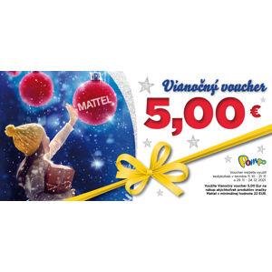 Vianočný voucher 5 € MATTEL  na nákup od 52 €