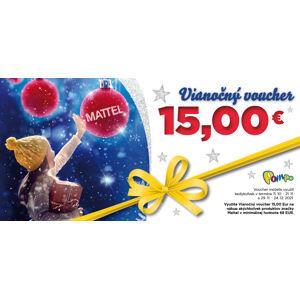 Vianočný voucher 15 € MATTEL  na nákup od 120 €