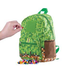 PIXIE CREW dětský batoh MINECRAFT zeleno-hnědý s malým panelem