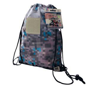 PIXIE CREW vak na chrbát pre fanúšikov Minecraft sivý