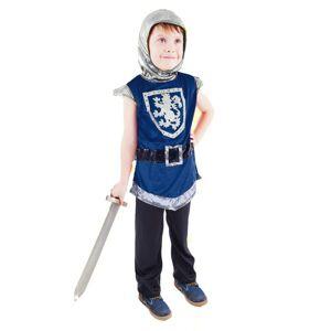 Rappa Dětský kostým Rytíř s erbem modrý (L)