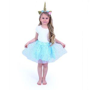 RAPPA Detský kostým modrá tutu sukne s čelenkou jednorožec