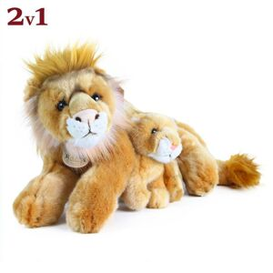 Rappa Plyšový lev ležící s mládětem, 40 cm