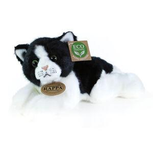 Plyšová kočka bílo-černá ležící 16 cm ECO-FRIENDLY