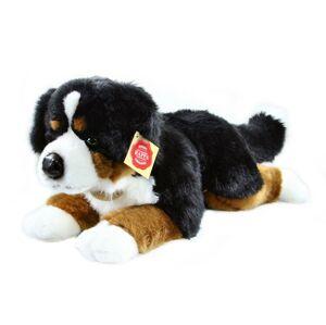 Plyšový bernský salašnický pes ležící, 44 cm