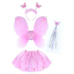 RAPPA Kostým kvetinka s krídlami, 4 ks