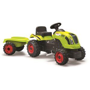 Smoby šliapací traktor CLAAS zelený s vozíkom