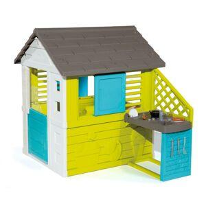 SMOBY Domček Pretty modrozelený s kuchyňou